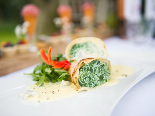 Kent Food Photographer - creamed spinach roll