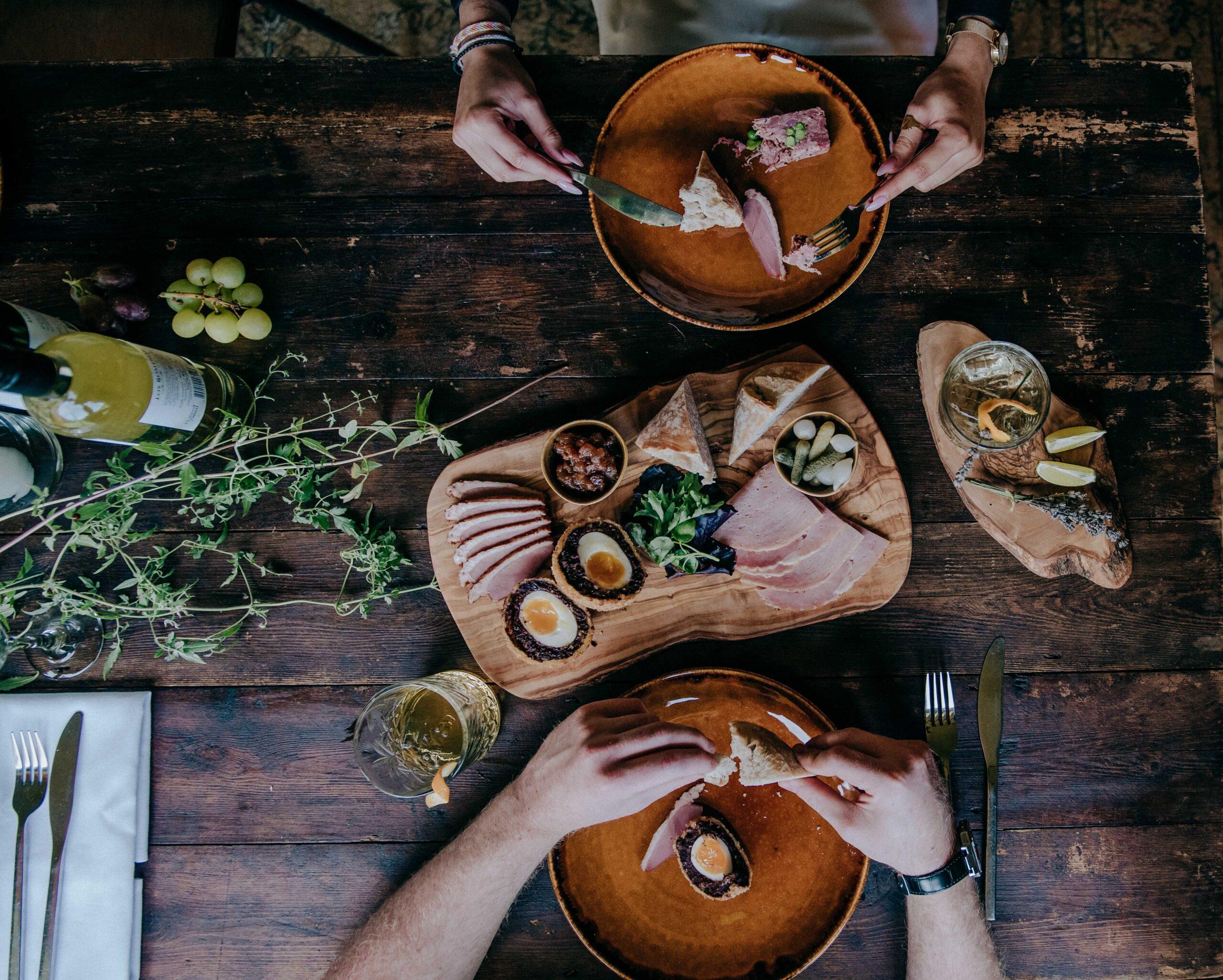 rustic sharing platter